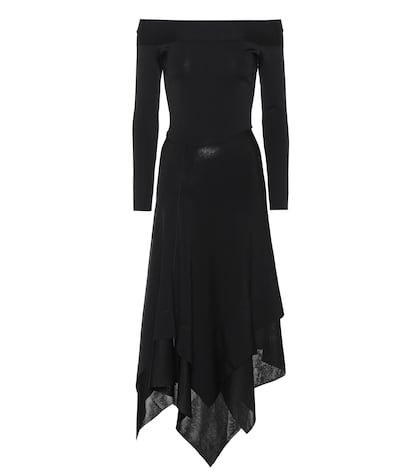 Off-the-shoulder stretch dress