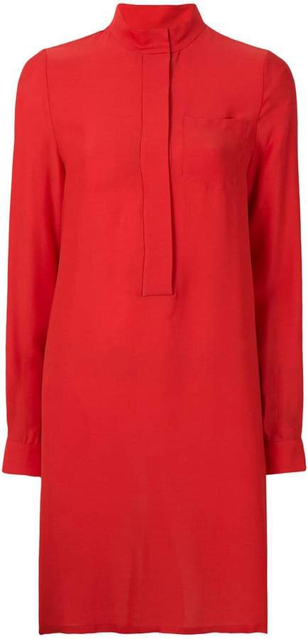 Noon By Noor Olivia mandarin collar longsleeved shirtdress