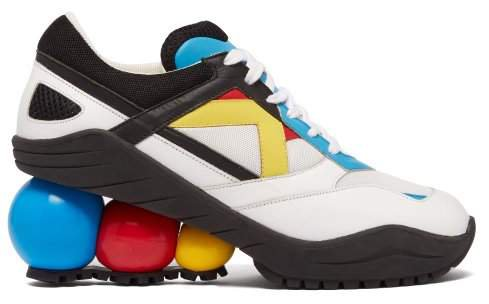 Looner Molecule Leather And Mesh Trainers - Womens - Multi