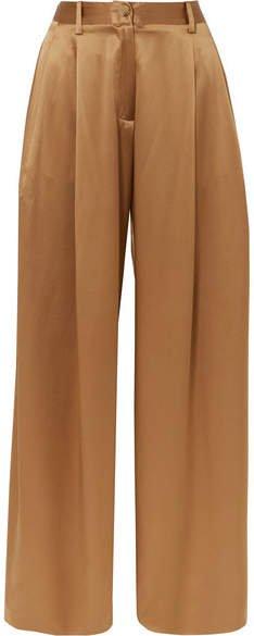 Brixton Silk-satin Wide-leg Pants