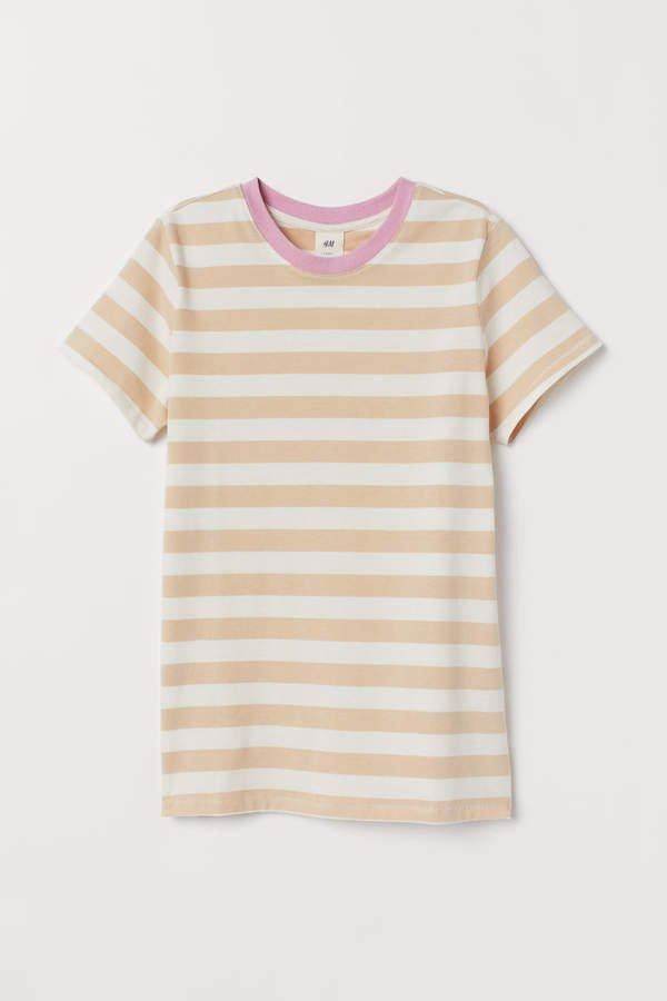 Striped T-shirt - Beige