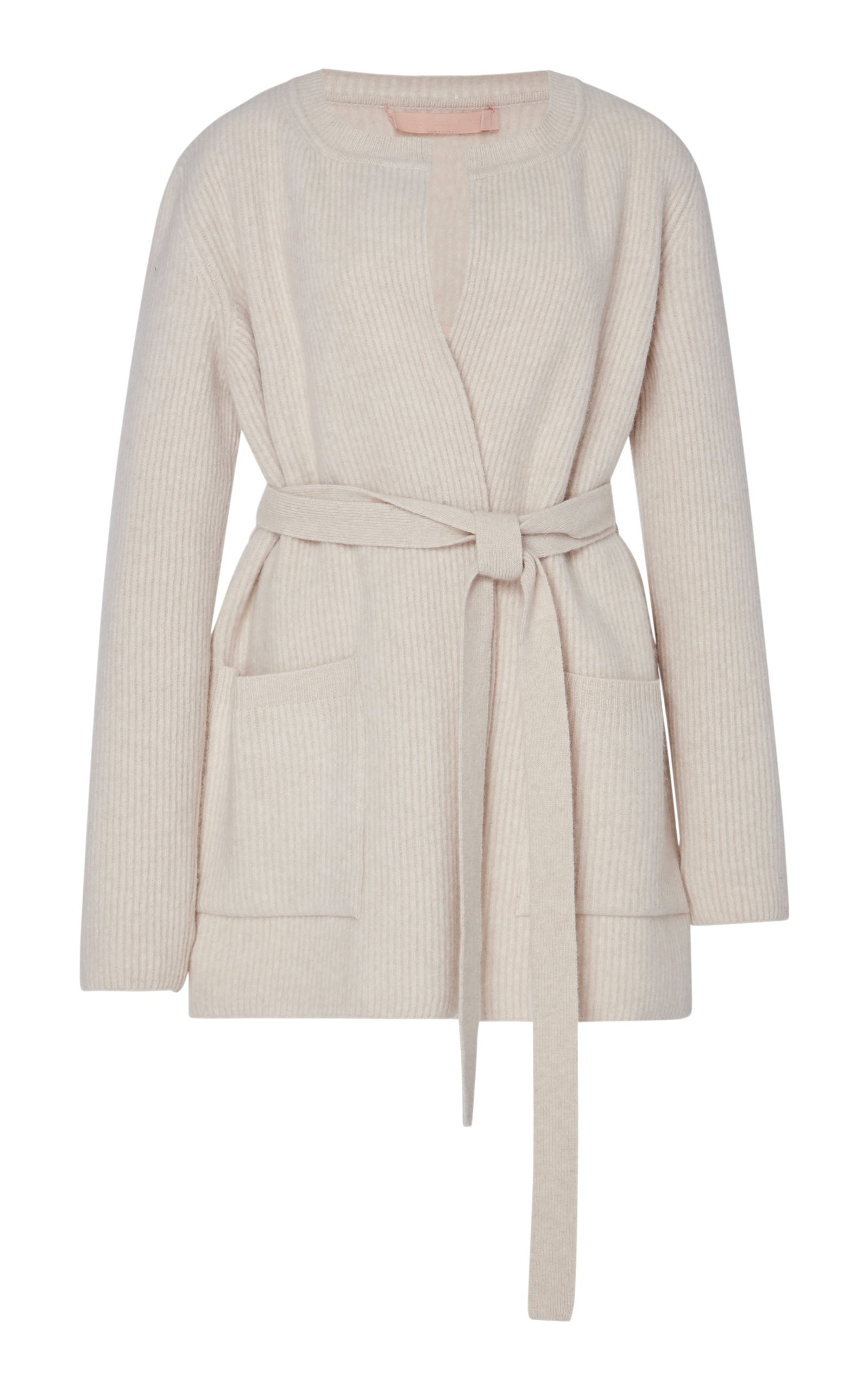 Brock Collection Pianista Belted Wool Cashmere Cardigan