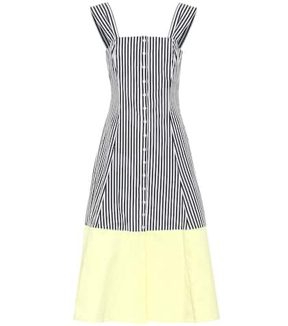 Ariel striped cotton midi dress