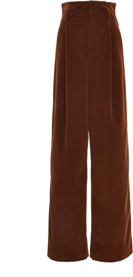 Cotton-Corduroy Wide-Leg Pants Size: 42