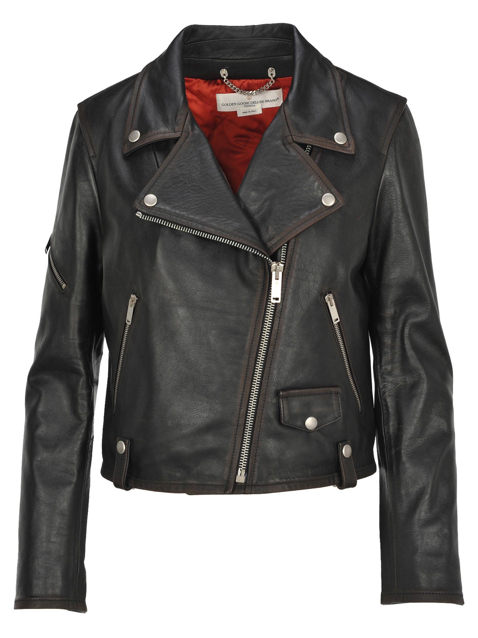 Golden Goose Golden Goose Leather Biker Jacket