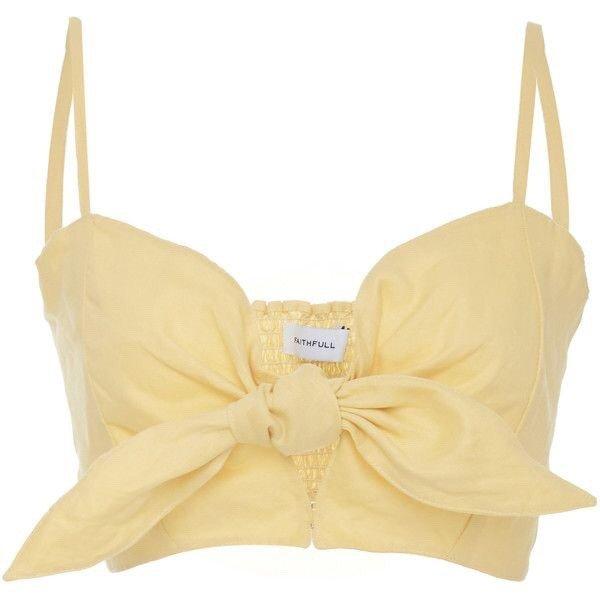 Faithful Yellow Bow Top