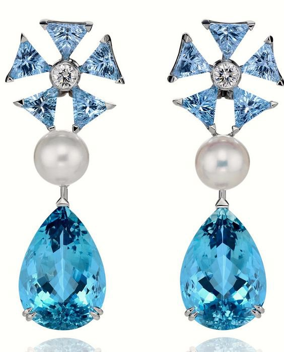 Disney & Chopard's Aquamarine Cinderella Ear Pendants