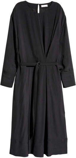 Calf-length Dress - Black