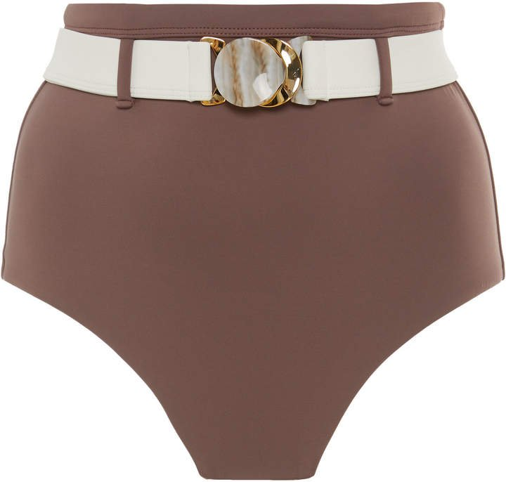 Palm Mesa Belted High-Waisted Bikini Bottom