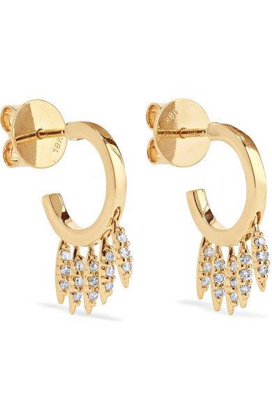 Ileana Makri | Grass Clipping 18-karat gold diamond earrings | NET-A-PORTER.COM