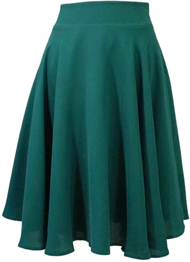 Lauren Lynn London - The Louisa Skirt - Flared Knee length skirt - Emerald Green
