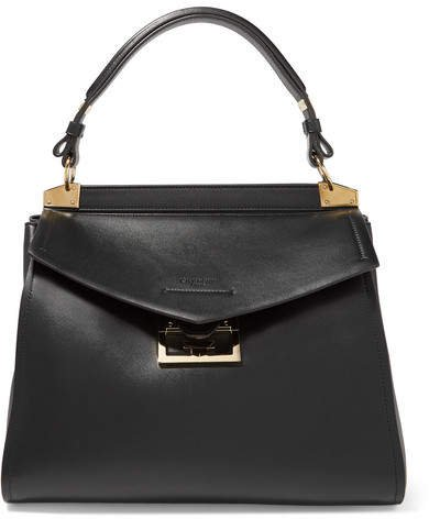 Mystic Medium Leather Tote - Black