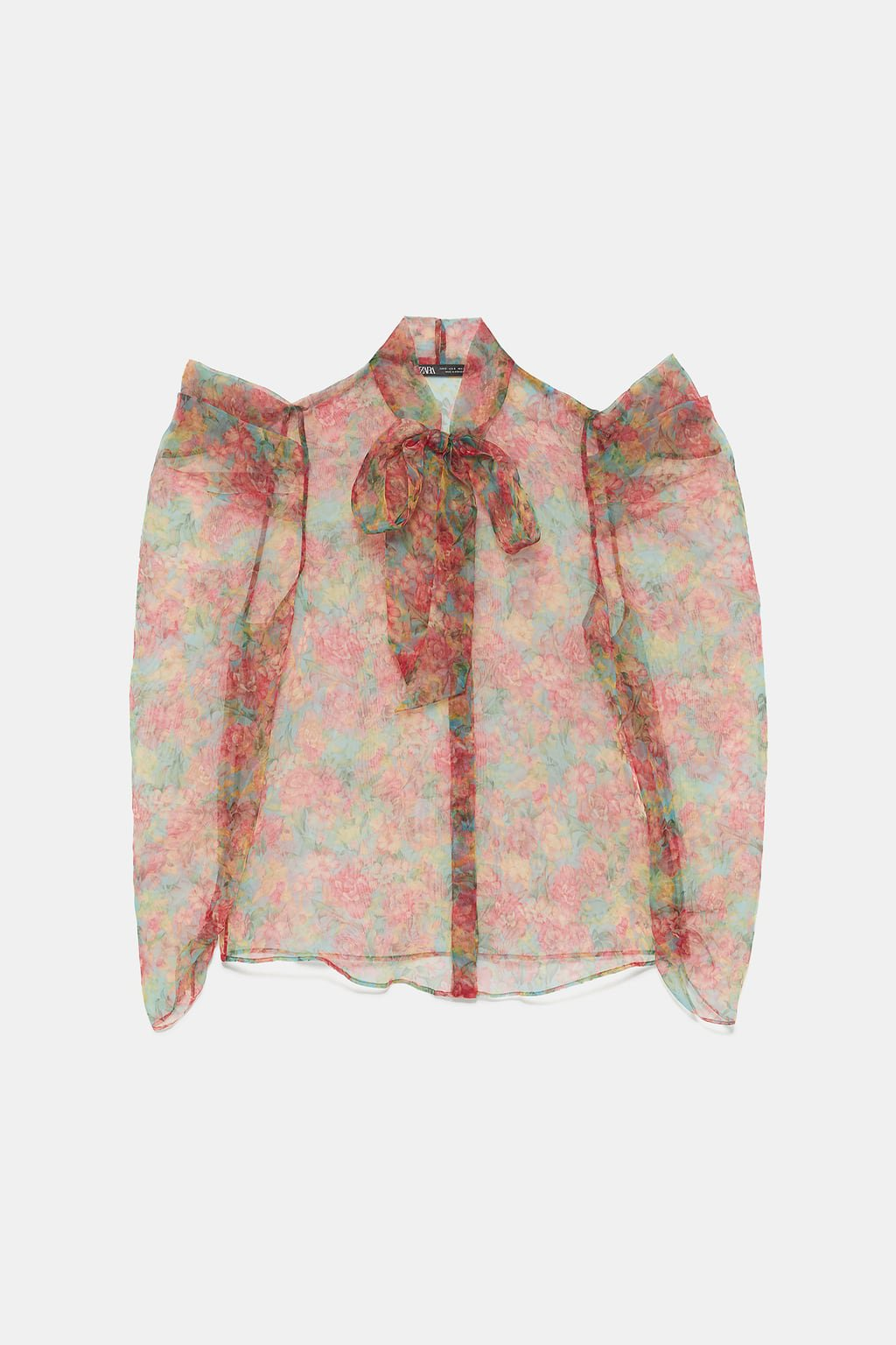 Trend FLORAL PRINT ORGANZA BLOUSE - NEW IN-WOMAN | ZARA New Zealand