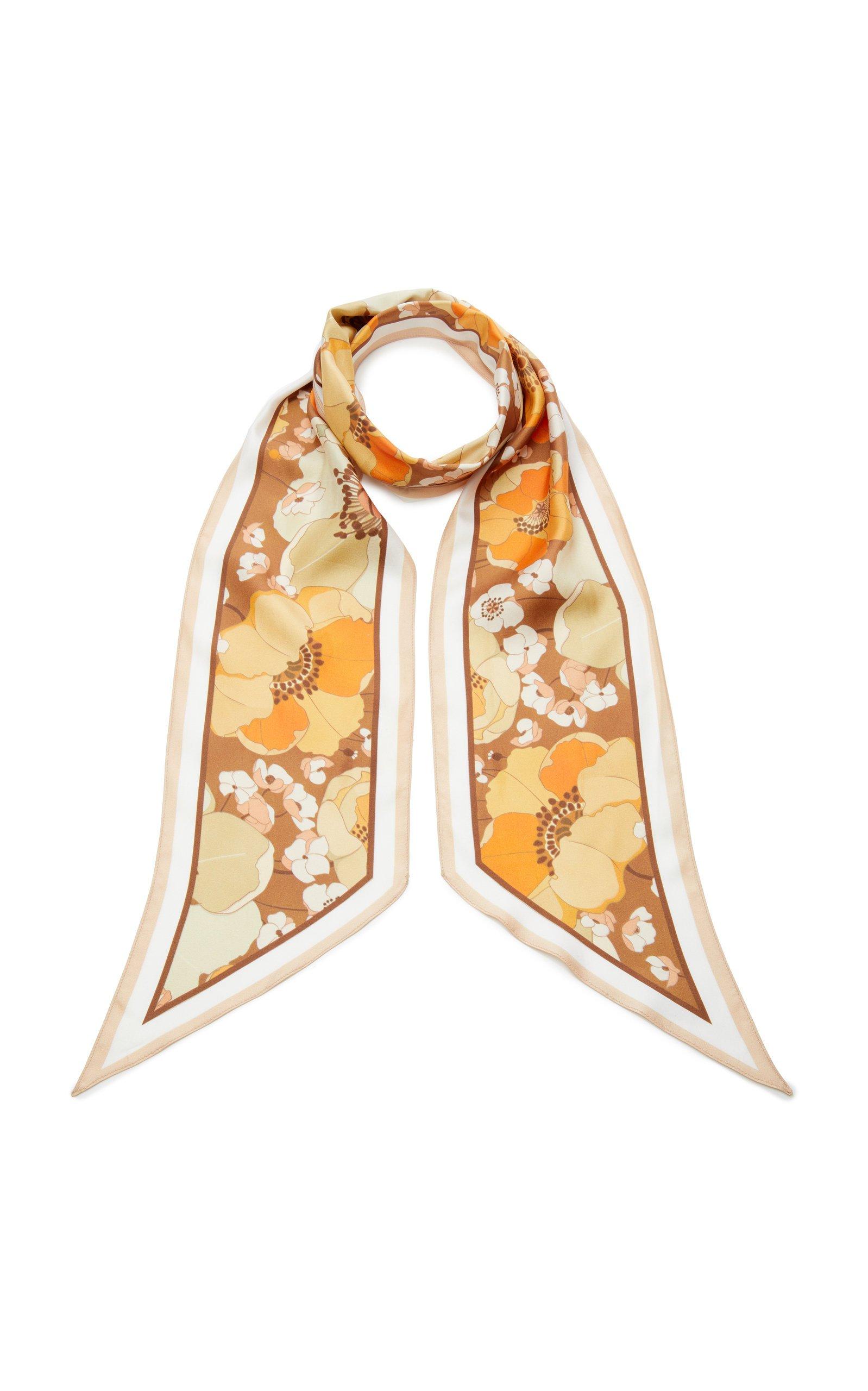 Zimmermann Floral-Print Silk-Twill Scarf