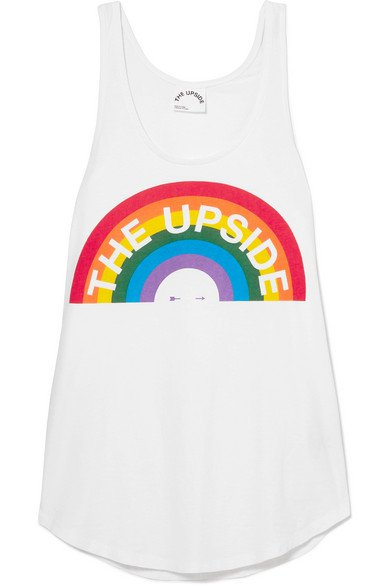 The Upside | Rainbow Issy printed cotton-jersey tank | NET-A-PORTER.COM