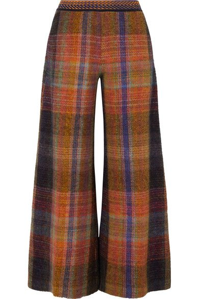 Missoni | Checked crochet-knit wide-leg pants | NET-A-PORTER.COM
