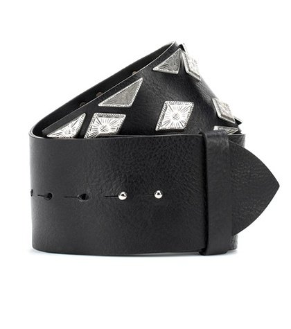 Zony embellished leather belt
