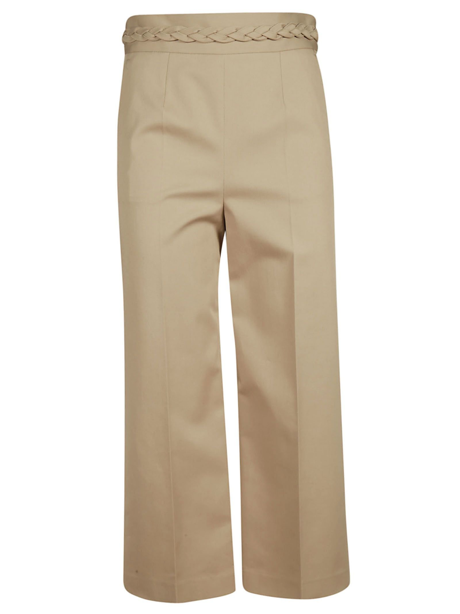 Red Valentino Belted Cropped Trousers