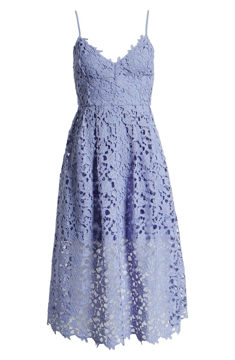 ASTR the Label Lace Midi Dress Lilac