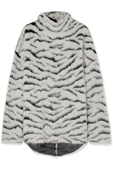 Givenchy | Oversized turtleneck mohair-blend jacquard sweater | NET-A-PORTER.COM