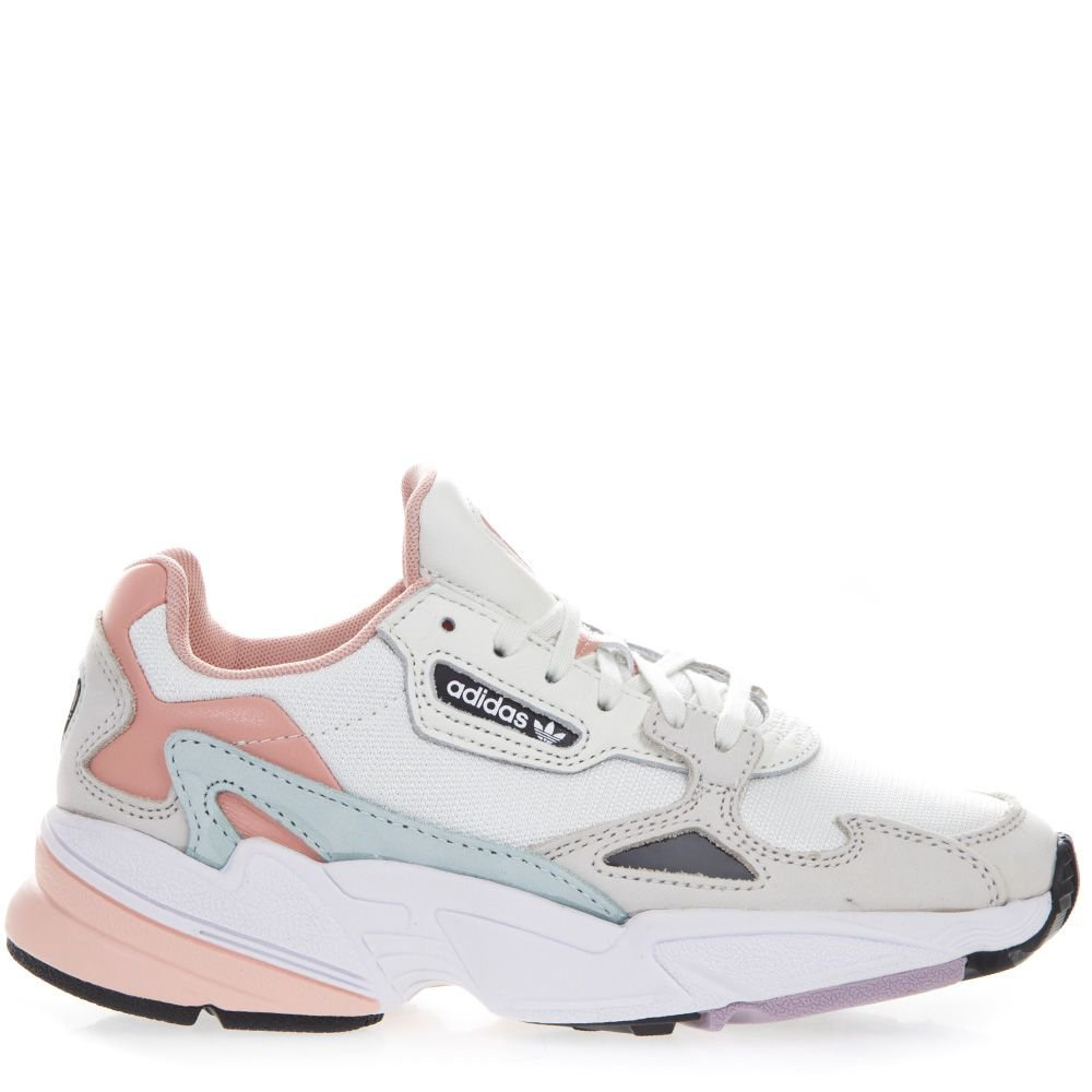 Adidas Originals Falcon White & Pink Mesh & Suede Sneakers