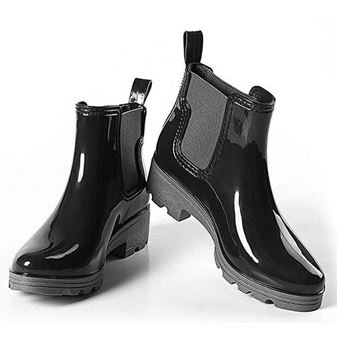 Dear Time Women Platform Ankle Rain Boots