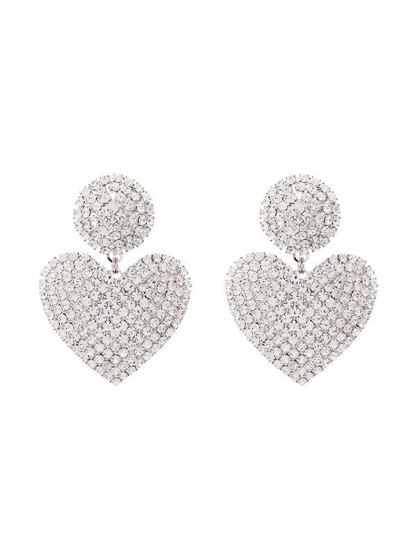 Alessandra Rich embellished heart-shape earrings $435 - Buy AW19 Online - Fast Global Delivery, Price