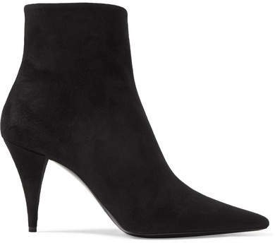 Kiki Suede Ankle Boots - Black