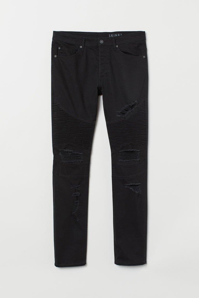 Skinny Biker Jeans - Black - Men | H&M US