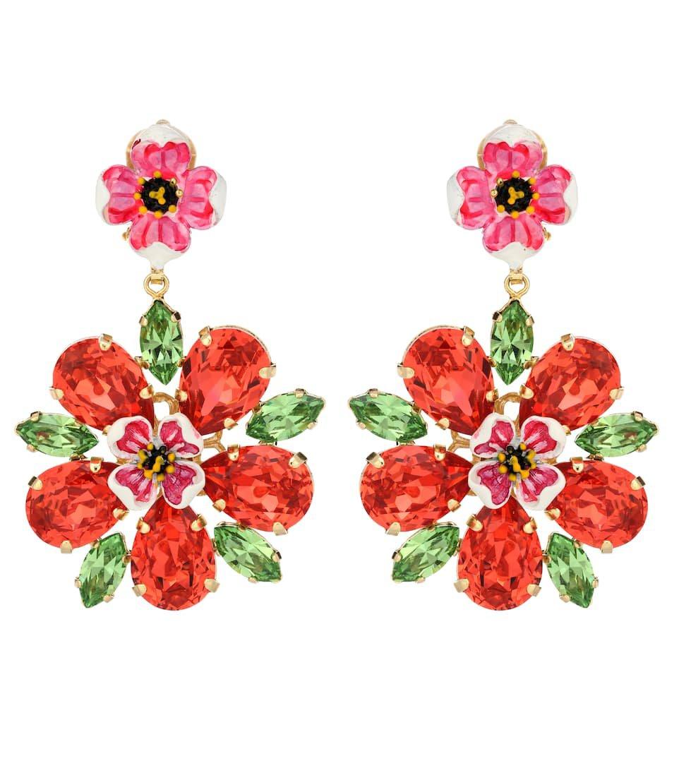 Crystal Clip-On Earrings | Dolce & Gabbana - mytheresa.com