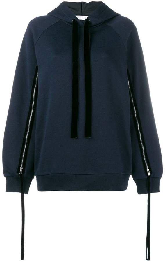 Dorothee zipped sleeve hoodie