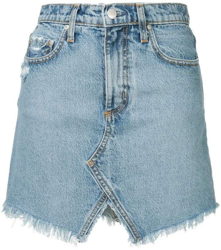 Nobody Denim distressed mini skirt