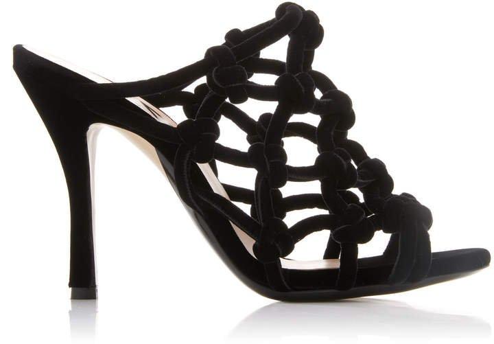 Knotted Velvet Sandals