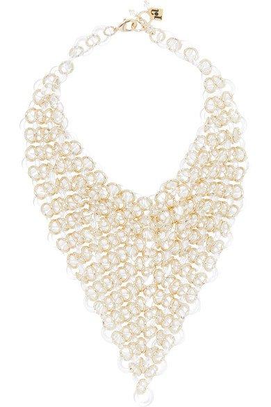Rosantica   Sound gold-tone and resin necklace   NET-A-PORTER.COM