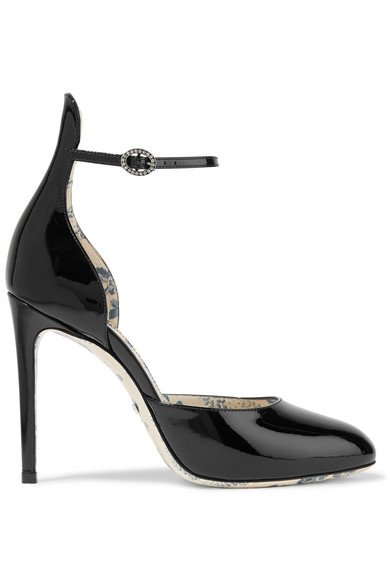 Gucci | Daisy patent-leather pumps | NET-A-PORTER.COM