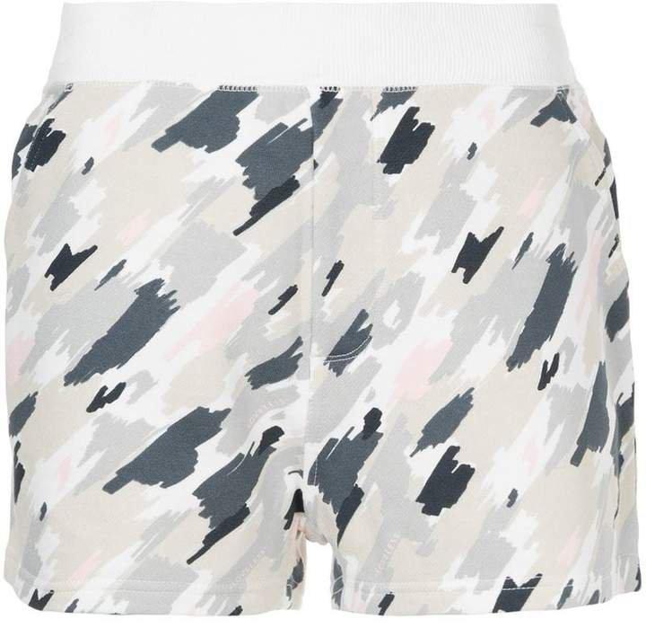 Loveless scribble camouflage shorts