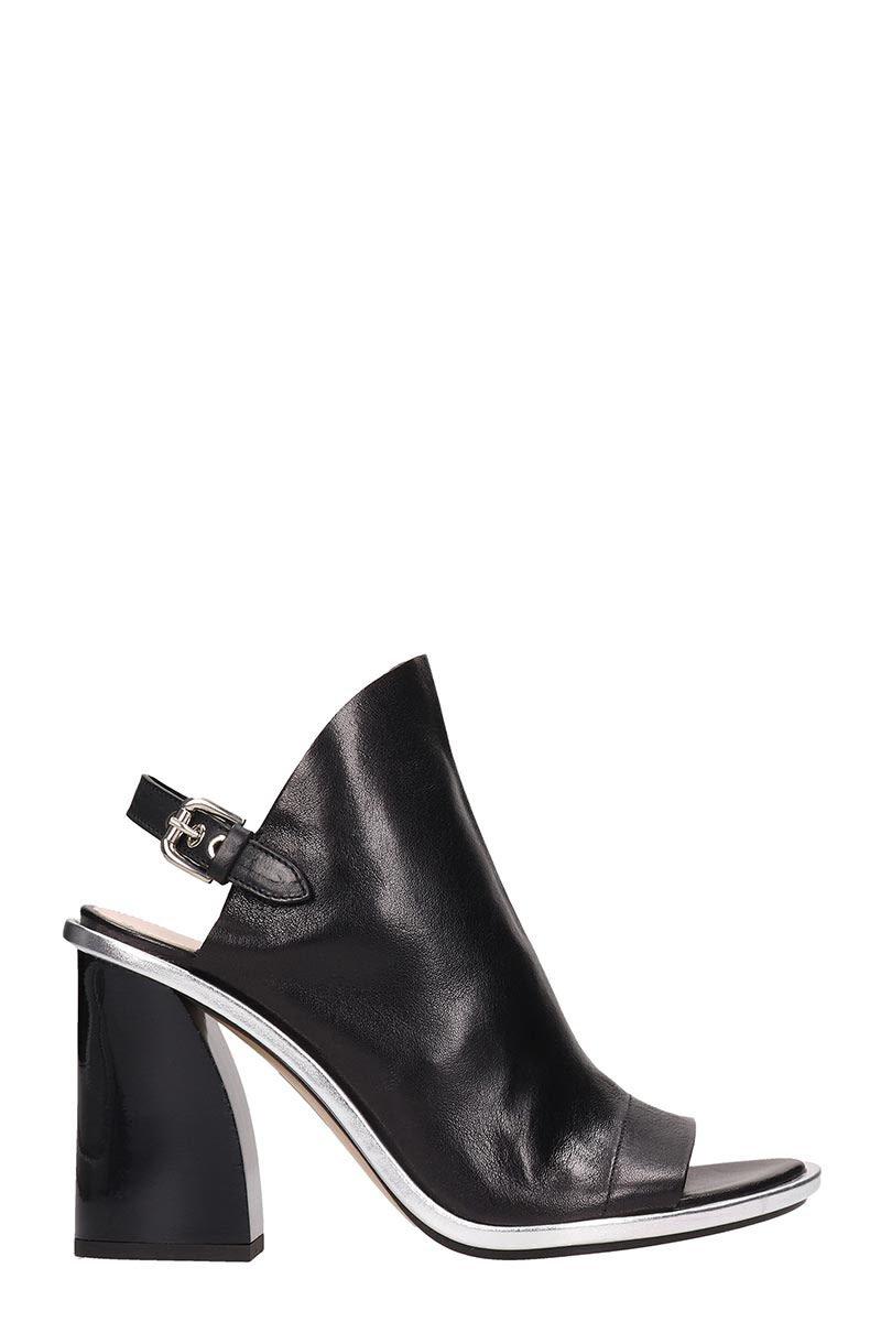 Premiata Black Leather Ankle Boots