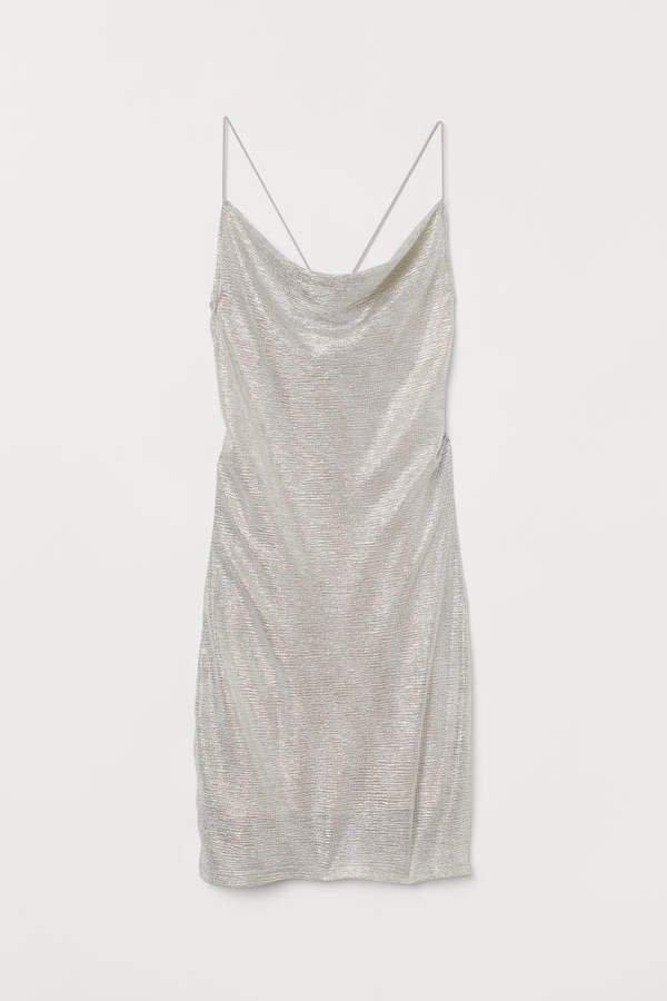 Shimmery Metallic Dress - Brown