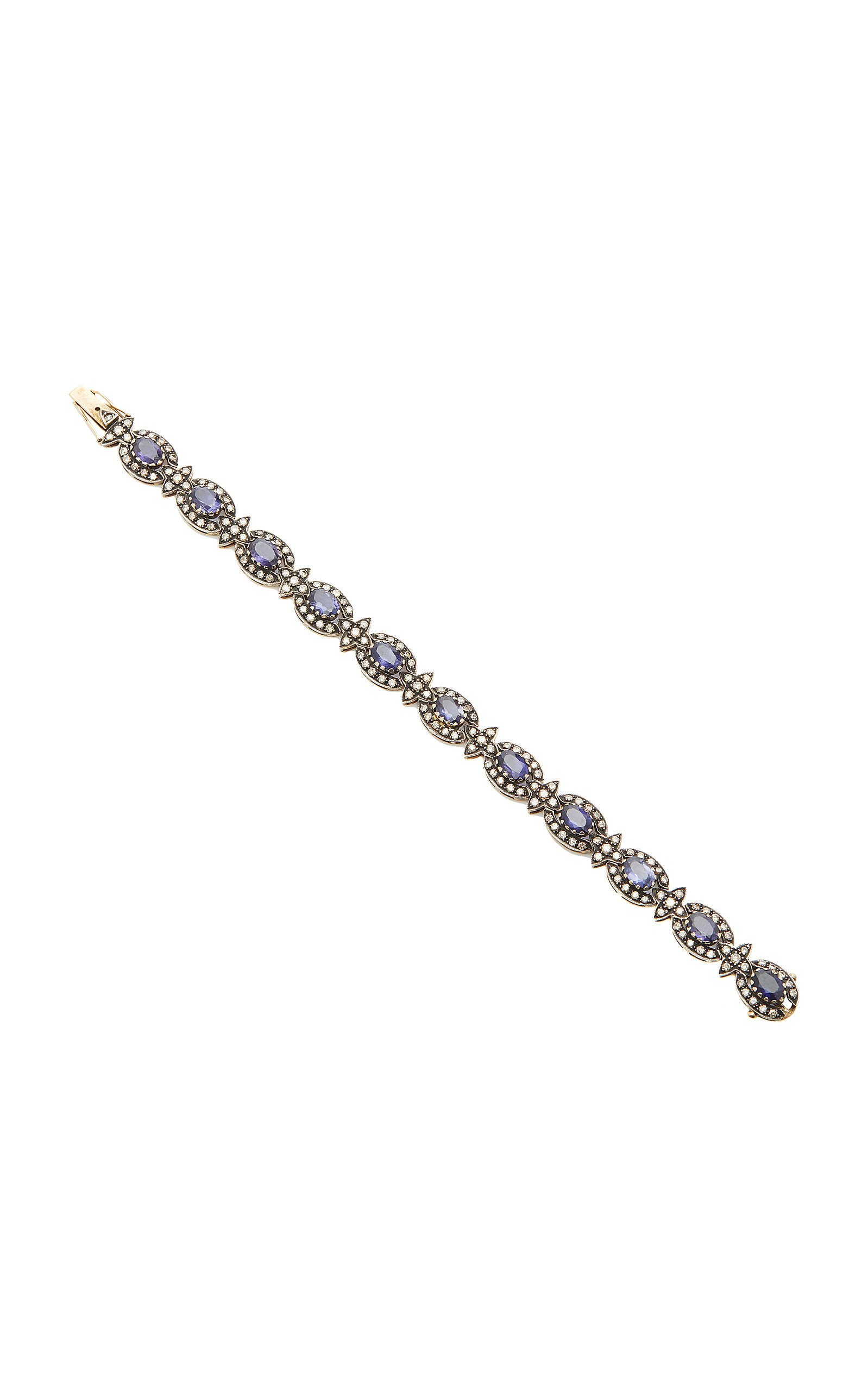 Amrapali 18K Gold Iolite And Diamond Bracelet