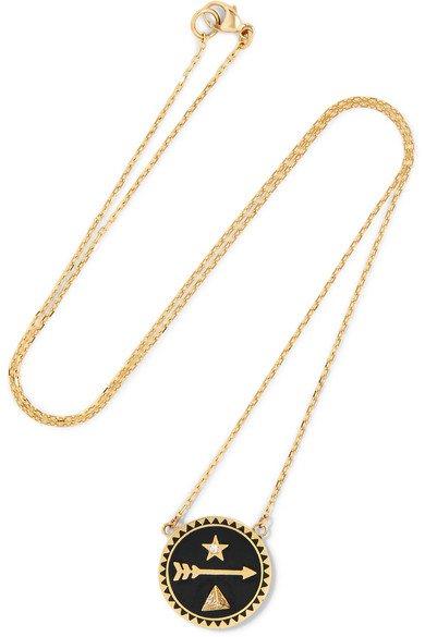 Foundrae Dream 18-Karat Gold, Diamond And Enamel Necklace | ModeSens