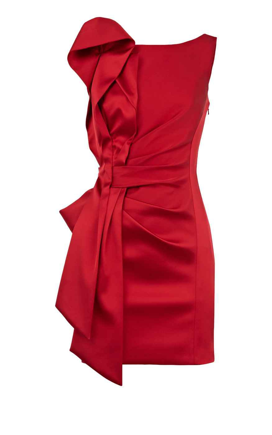 Karen Millen Signature Stretch Satin Dress Red,karen millen jacket,karen millen black,Free and Fast Shipping, karen millen clothing online store Wholesale online