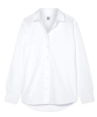Capri Cotton-poplin Shirt - White