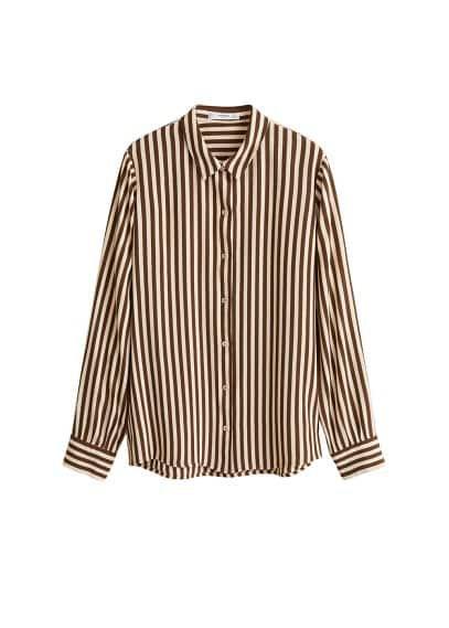 MANGO Bicolor striped shirt