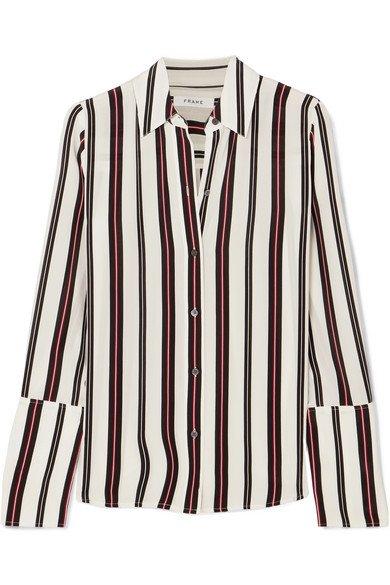 FRAME | Striped silk blouse | NET-A-PORTER.COM