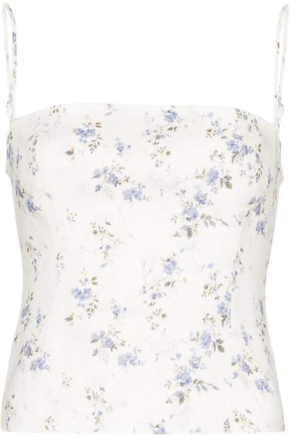 Overland floral print tank top