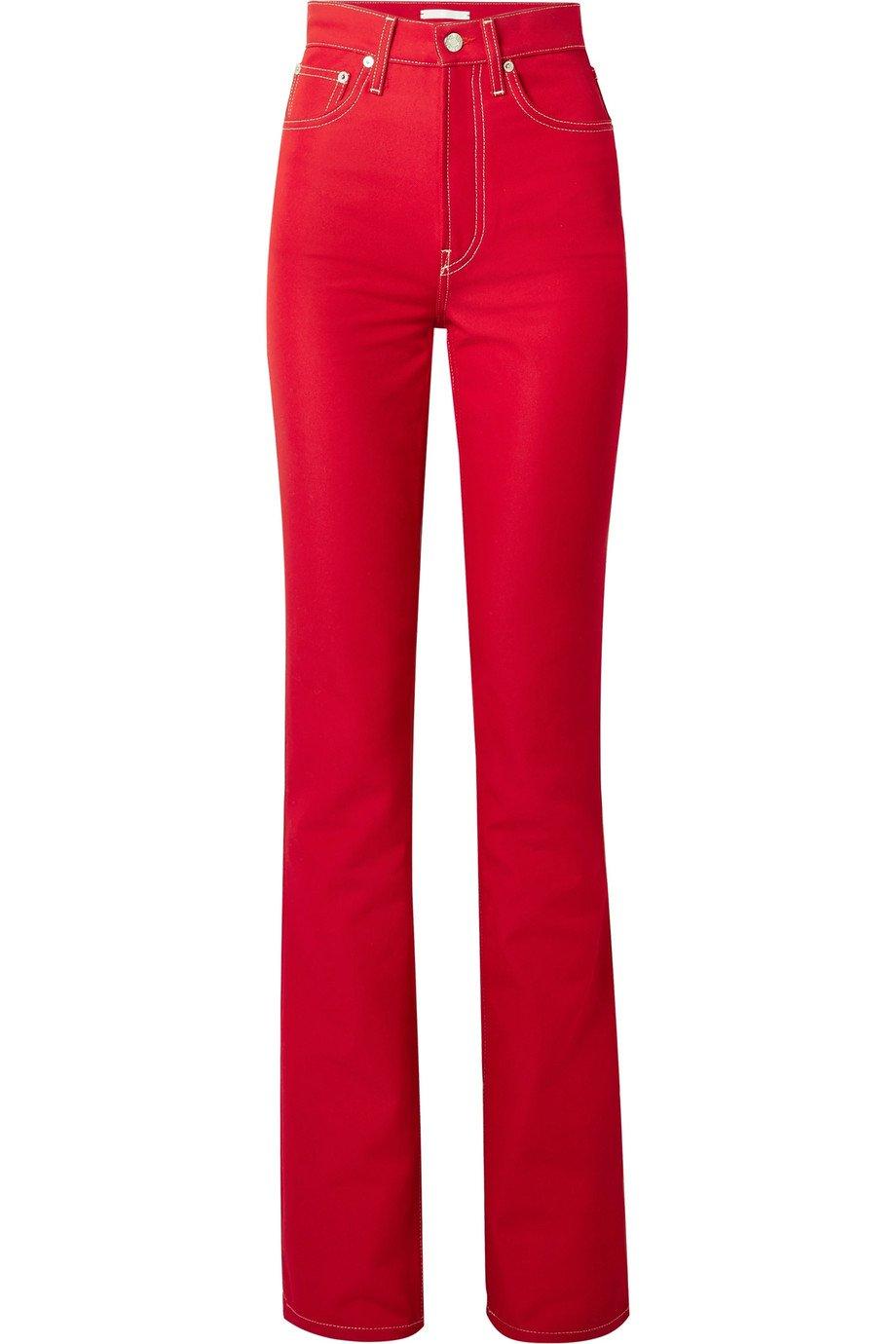 Helmut Lang   High-rise slim-leg jeans   NET-A-PORTER.COM