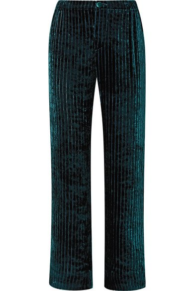 F.R.S For Restless Sleepers | Etere quilted velvet straight-leg pants | NET-A-PORTER.COM