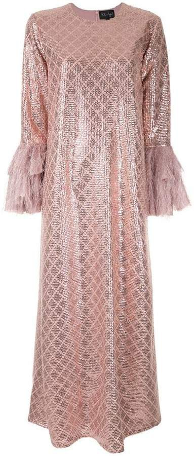 Dima Ayad sequin embroidered flared dress
