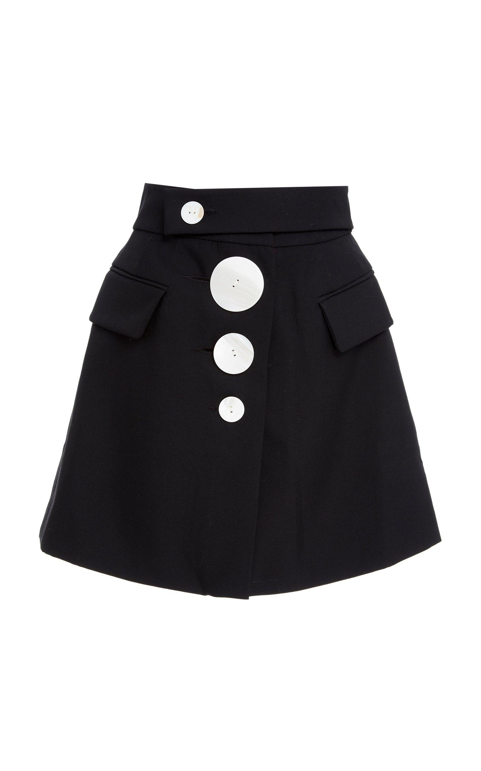 Acler Lynne Asymmetrical Cady Mini Skirt Size: 2