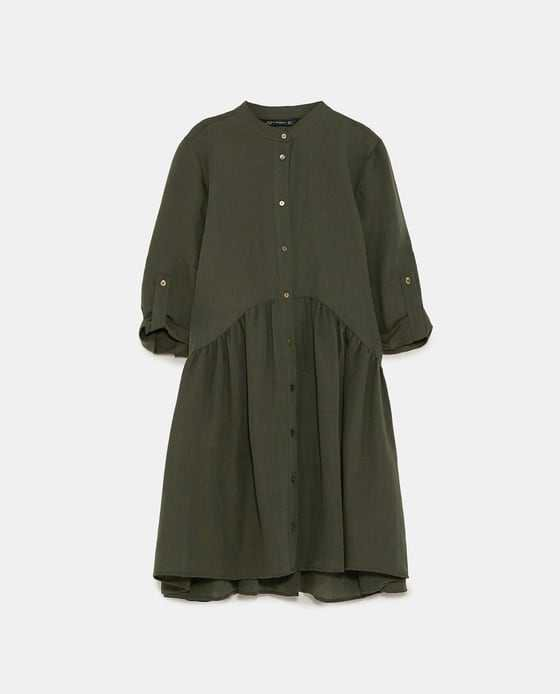 BUTTON - UP RUFFLED DRESS-View All-DRESSES-WOMAN-SALE   ZARA United States